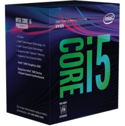 CPU Intel Core i5 8400 2.8Ghz Turbo Up to 4Ghz / 9MB / 6 Cores, 6 Threads / Socket 1151 v2 (Tray, no fan)