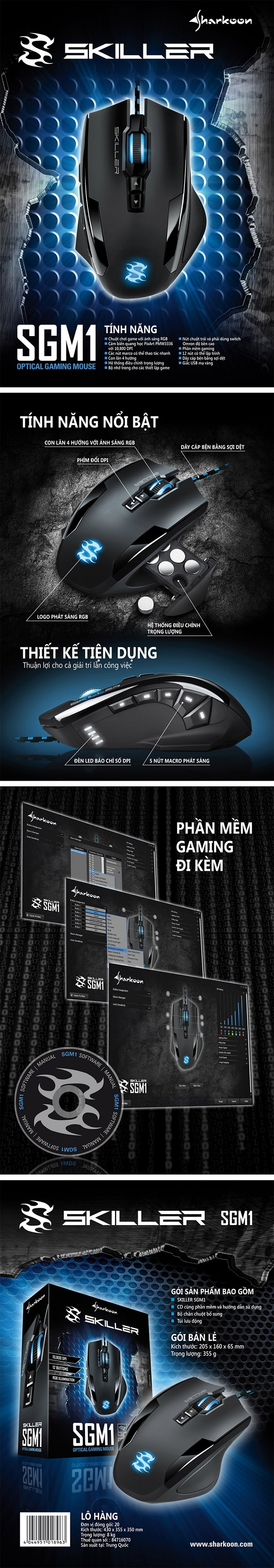 Chuột gaming Sharkoon SKILLER SGM1