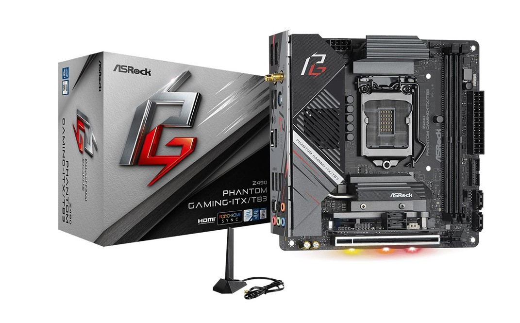 Mainboard ASROCK Z490 PHANTOM GAMING-ITX/TB3