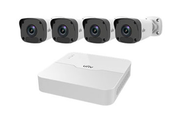 Bộ KIT 4 Camera IP Thân UNV 2MP Full HD 1080P