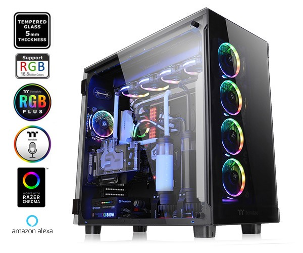 Case Thermaltake View 91 Tempered Glass RGB Edition Super Tower Chassis