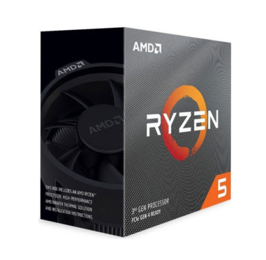 CPU AMD Ryzen 5 3600X, with Wraith Spire cooler/ 3.8 GHz (4.4GHz Max Boost) / 36MB Cache / 6 cores / 12 threads / 95W / Socket AM4